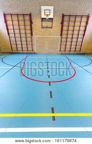 Dutch gym class for school sports no people