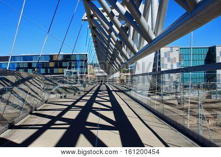 Akrobaten pedestrian bridge in Oslo in Norway