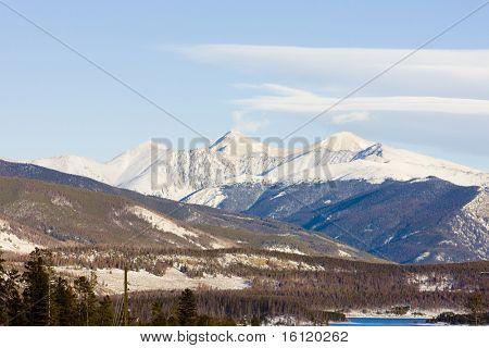 The Rockies Mountains near Frisco, Colorado, USA