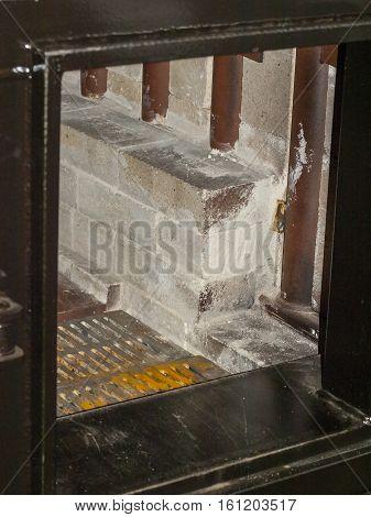 The loading door is solid fuel boiler