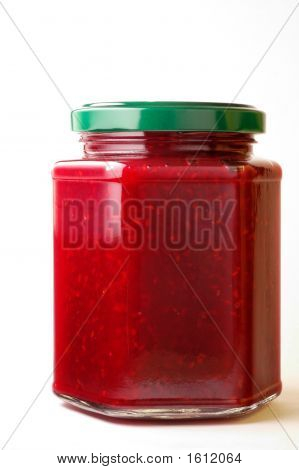Raspberry Jam In Hexagonal Jar (1)