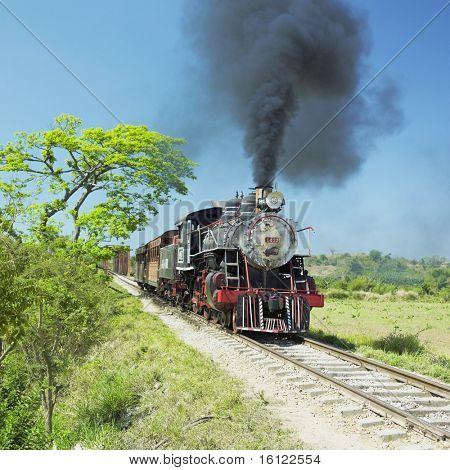 tourist train Valle de Los Ingenios, Sancti Spiritus Province, Cuba