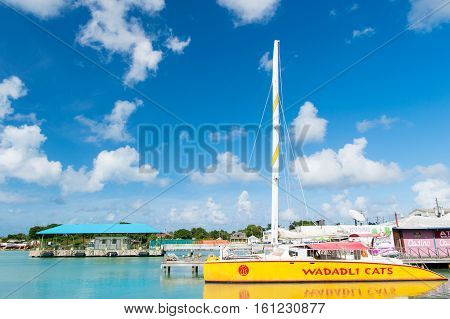 Yellow Yacht Or Sailing Boat