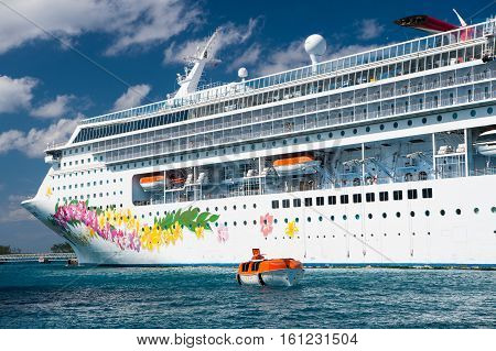 Cruise Ship With Life Boat