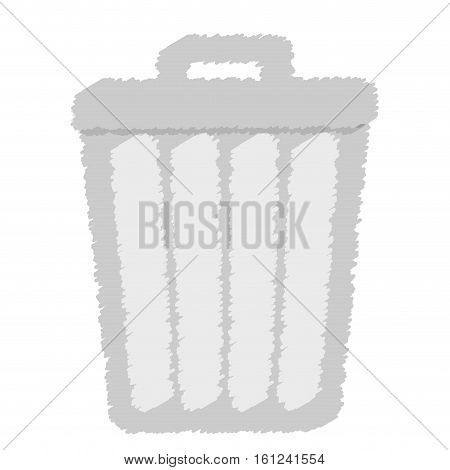 trash can icon image paint style vector illustration design