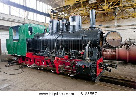 steam locomotive in depot, Banovici, Bosnia and Hercegovina