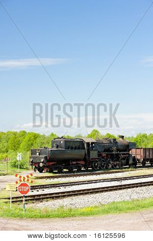 steam locomotive in Tuzla region, Bosnia and Herzegovina