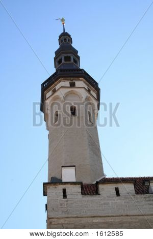 Tower Of An Old Town Hall Of Tallinn