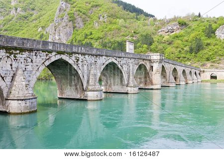 bridge over Drina River, Visegrad, Bosnia and Herzegovina