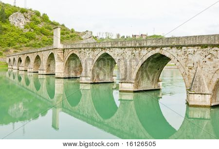 bridge over Drina River, Visegrad, Bosnia and Hercegovina
