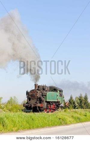 steam locomotive, Durdevik, Bosnia and Hercegovina