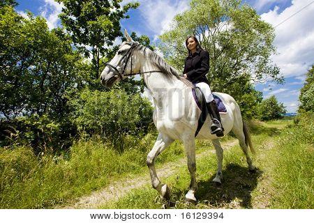 equitación a caballo