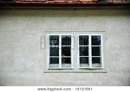 Window and the grey wall