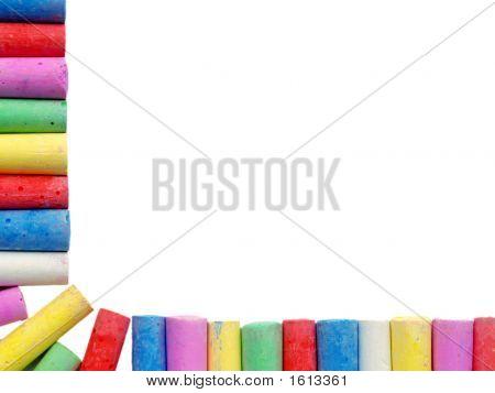 Border Of Coloured Chalks