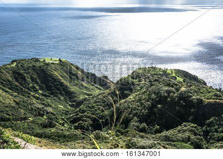 View of Waihee coast in Maui Hawaii