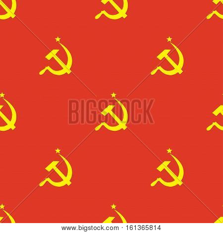 Ussr flag seamless pattern, retro red background