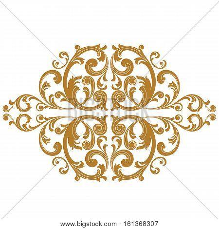 Golden vintage ornament pattern, border ornament pattern, engraving ornament pattern, ornament ornament pattern, pattern ornament, antique ornament pattern, baroque ornament pattern, decorative ornament pattern. Vector.