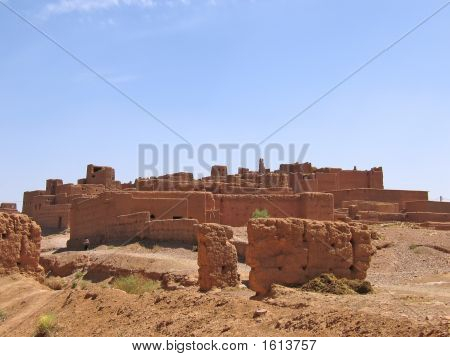 Old Fortress In The Desert, Zagora, Draa Valley, Morocco