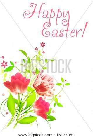 Spring flowers for Easter