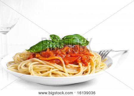 Spaghetti whit tomato sauce