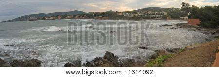 Sainte Maxime Meer Bucht von Saint Aygulf, saint Raphael und Frejus, Azur Küste, südlich von Frankreich
