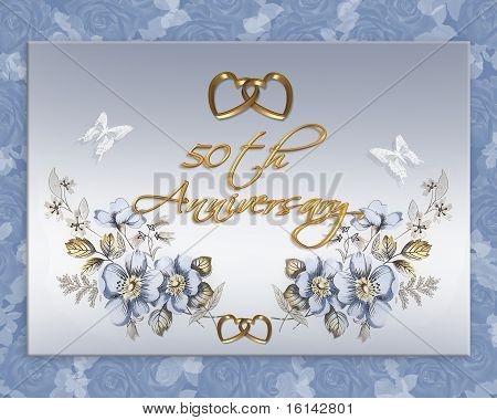 50th wedding anniversary card Stock photo