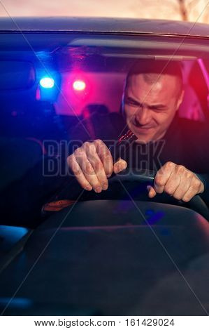 Drunk Driver In Car Chased By Police