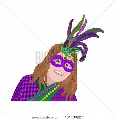 Girl Masquerade Mask Isolated Vector  Photo  Bigstock