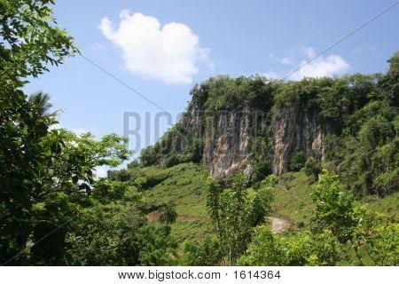 Cliff In Dominican Republic