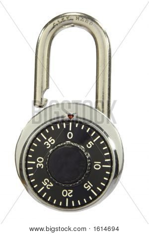 Combination pad lock unlocked with