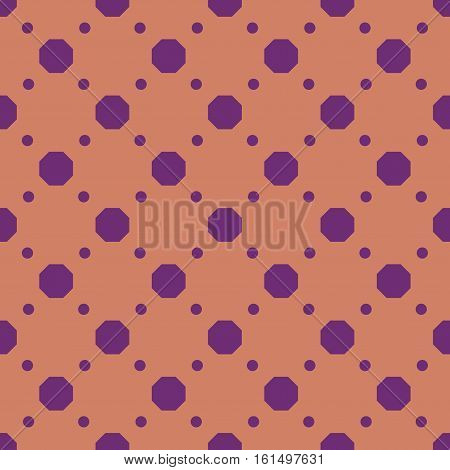 Polka dot geometric seamless pattern. Fashion graphic background design. Modern stylish abstract texture. Color template for prints textiles wrapping wallpaper etc Stock VECTOR illustration