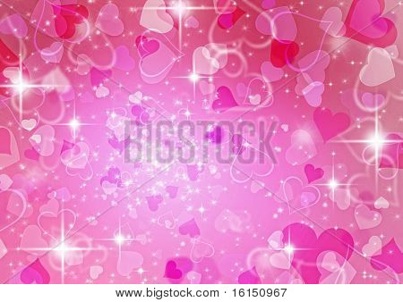beautiful colorful heart shape background