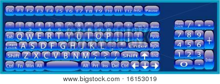 keyboard vector illustration