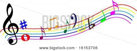 Colour design element music - vector illustration