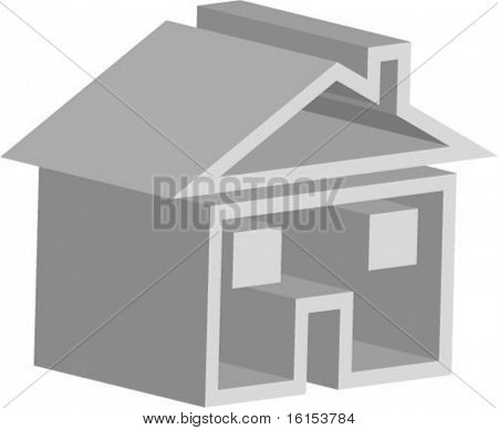 3d house - vector illustration