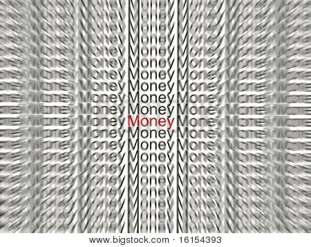 Blur text - money
