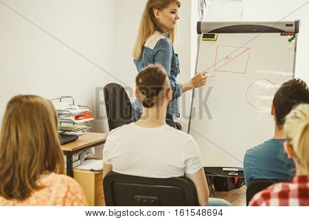 Teacher Teaching Mathematics To College Students