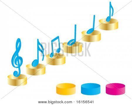 3d music elements