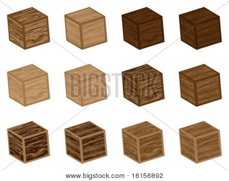 3d wooden cubes