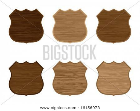 Wooden badges