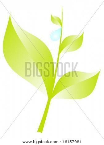 Ilustración de rama de árbol moderno