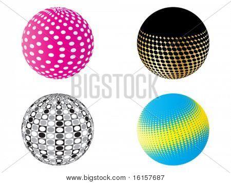 Modern vector balls