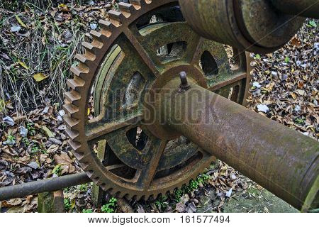 The old mechanism for pulling boats out of the river.