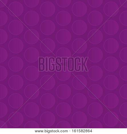 Bubble Wrap. Purple Neutral Seamless Pattern for Modern Design in Flat Style. Tileable Geometric Vector Background.