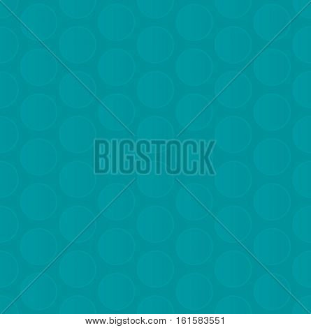 Bubble Wrap. Turquoise Neutral Seamless Pattern for Modern Design in Flat Style. Tileable Geometric Vector Background.
