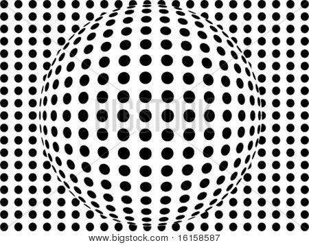 abstract doted ball background