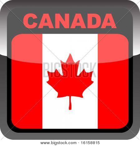 Botón de bandera canadiense