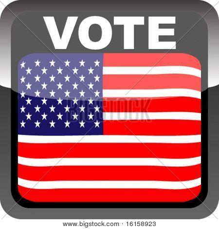 Bandera de voto brillante