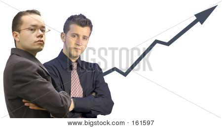 Business Men With Graph