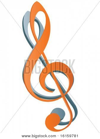 treble clef icon vector illustration